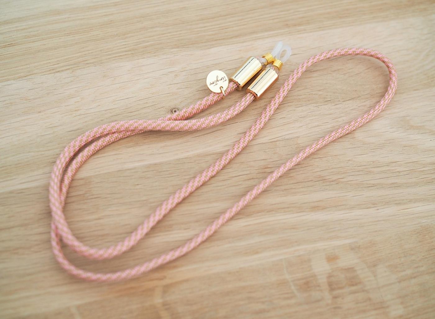 Brillenband Betty in rosa beige mit verstellbaren Silikonschlaufen