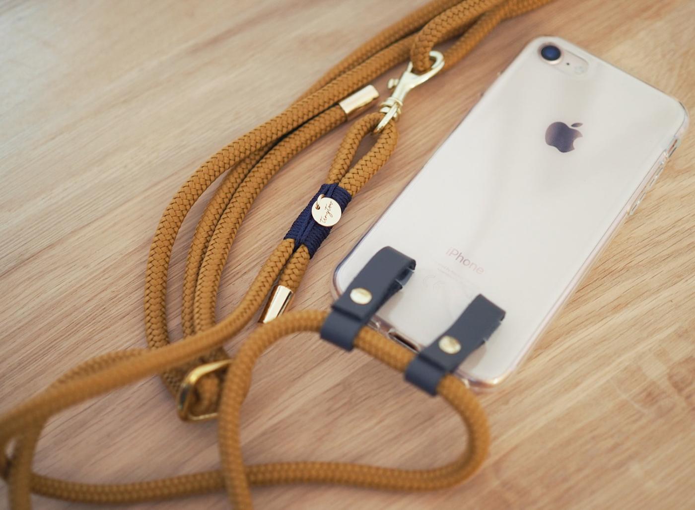 Handyhülle zum Umhängen aus Tau für dein iPhone