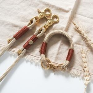 set-hundeleine-halsband-tauseil-beige-braun